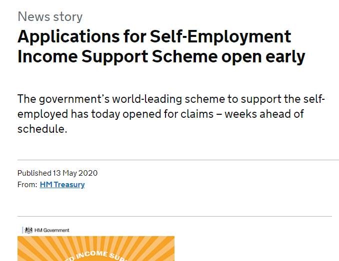 Applications for self-employment