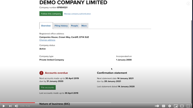How to submit limited company accounts