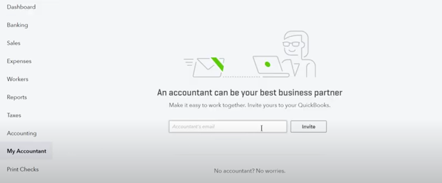 Give access to your UK accountant
